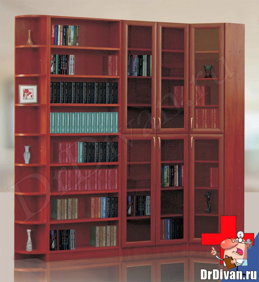 Шкафы для книг, библиотеки от производителя в москве, купить.