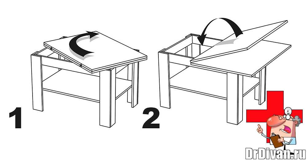 Как сделать складной журнальный столик чертежи
