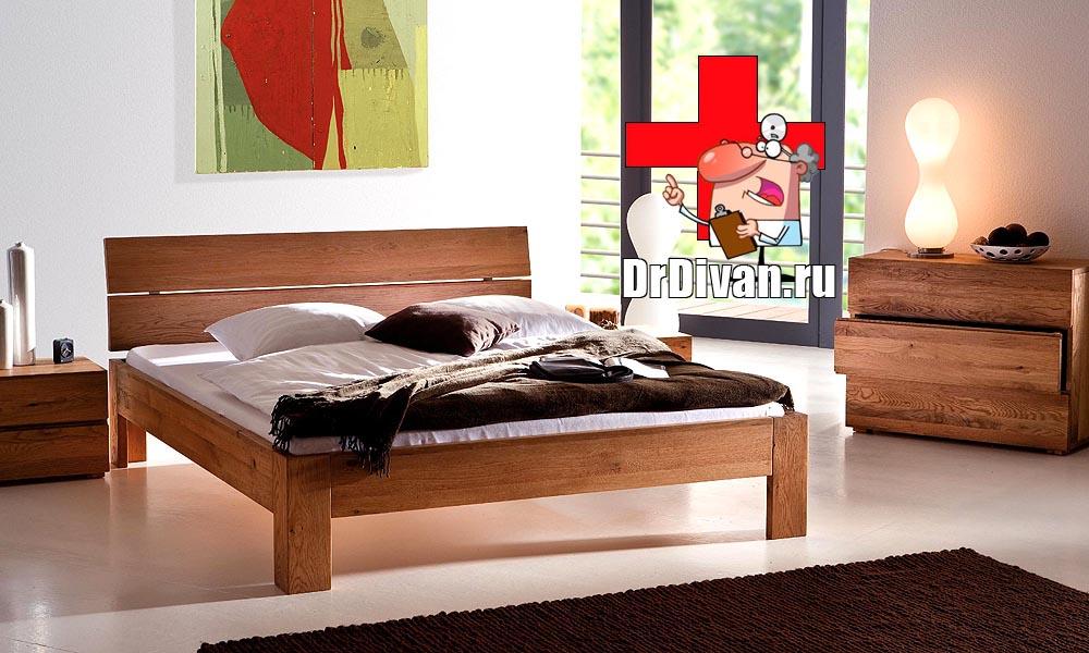Кровать для спальни из дерева