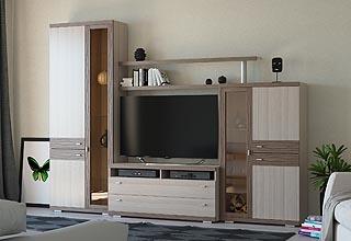 современные гостиные стенки горки в гостиную в зал купить недорого